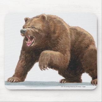 Illustration of a Brown bear Mouse Mat