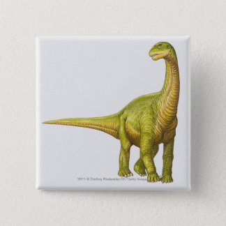 Illustration of a Camarasaurus 15 Cm Square Badge