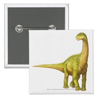 Illustration of a Camarasaurus 15 Cm Square Badge