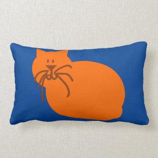 Illustration of a cat a vector design blue pillow