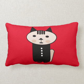 Illustration of a cat a vector design red pillow
