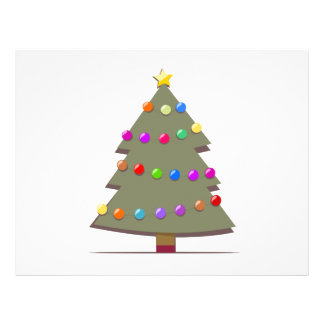 Illustration of a Christmas tree Flyers