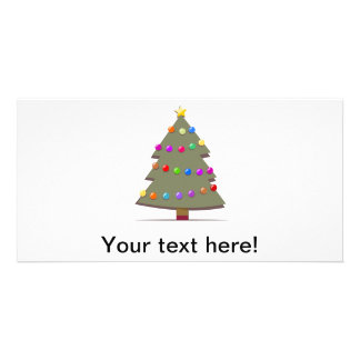 Illustration of a Christmas tree Personalized Photo Card