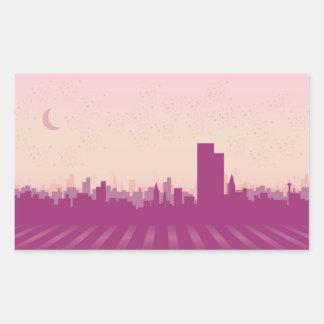Illustration of a city rectangle sticker