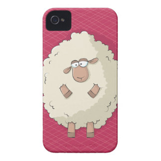 Illustration of a cute and funny giant sheep iPhone 4 cover