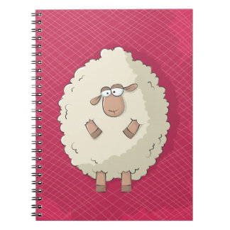 Illustration of a cute and funny giant sheep notebooks