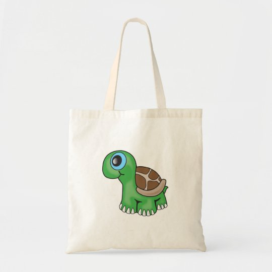Illustration of a Cute Baby Turtle Tote Bag