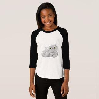 Illustration of a cute cat Angel T-Shirt