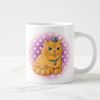 Illustration of a cute cat large coffee mug