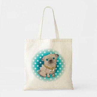 Illustration of a cute dog pug