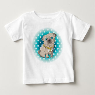 Illustration of a cute dog pug baby T-Shirt