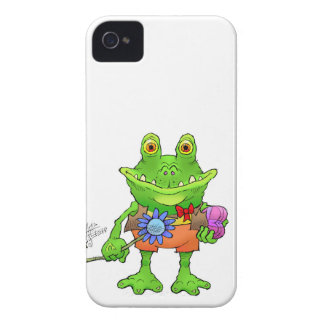 Illustration of a frog. iPhone 4 case