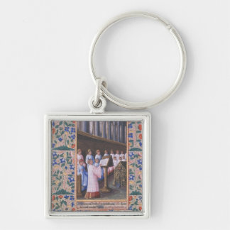 Illustration of a funeral service keychain