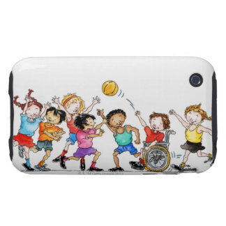Illustration of a group of children including a iPhone 3 tough cases