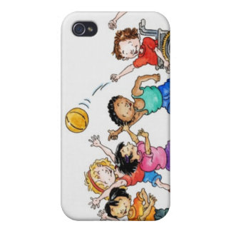 Illustration of a group of children including a iPhone 4/4S case