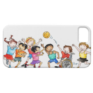 Illustration of a group of children including a iPhone 5 covers