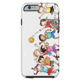 Illustration of a group of children including a tough iPhone 6 case