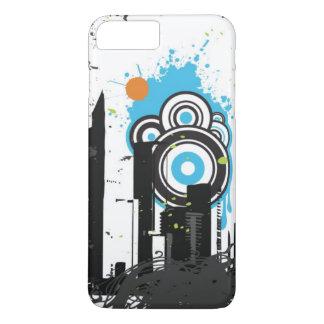 Illustration of a grungy cityscape iPhone 8 plus/7 plus case