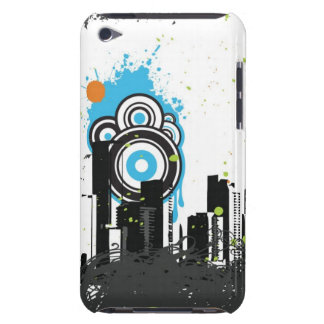 Illustration of a grungy cityscape iPod touch case