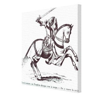 Illustration of a Knight Templar Canvas Print