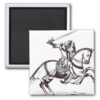 Illustration of a Knight Templar Magnet