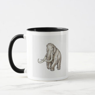 Illustration of a mammoth mug