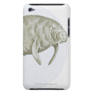 Illustration of a Manatee (Trichechus sp.) iPod Touch Cover