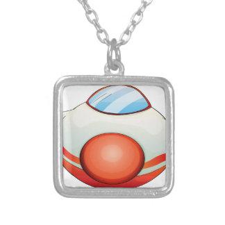 Illustration of a plane square pendant necklace