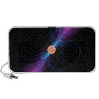 Illustration of a pulsar travel speaker