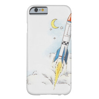 Illustration of a rocket taking off barely there iPhone 6 case