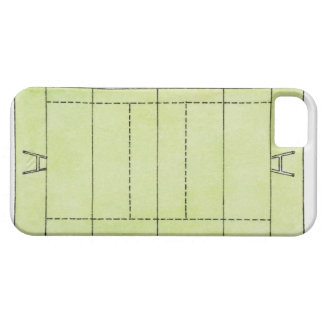 Illustration of a rugby pitch case for the iPhone 5