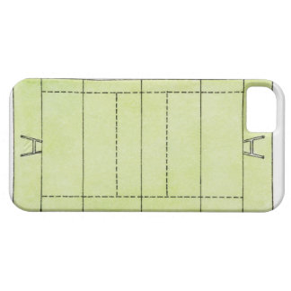 Illustration of a rugby pitch iPhone 5 cover