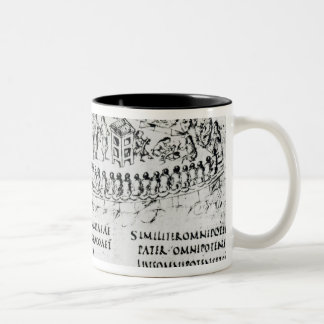 Illustration of a scene from one of the Psalms Two-Tone Mug