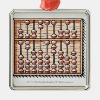 Illustration of abacus christmas ornament