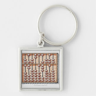 Illustration of abacus key chain