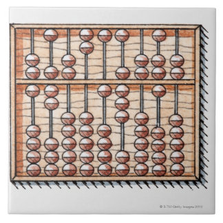 Illustration of abacus large square tile