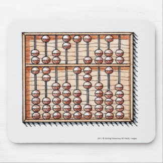 Illustration of abacus mouse pad