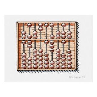 Illustration of abacus postcard