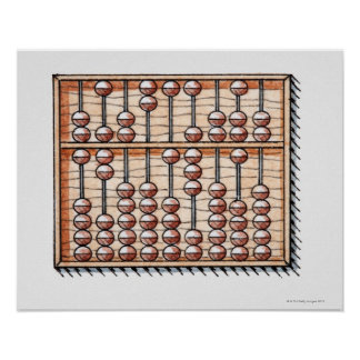 Illustration of abacus poster