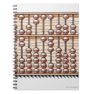 Illustration of abacus spiral notebook
