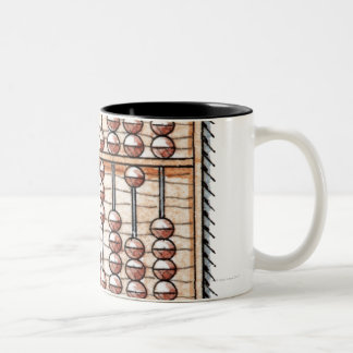 Illustration of abacus Two-Tone coffee mug