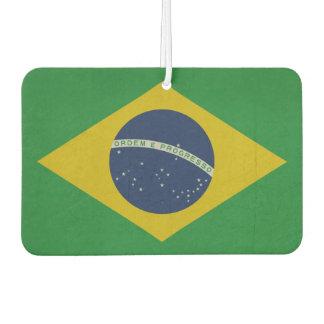 Illustration of abstract grunge flag of Brazil Car Air Freshener