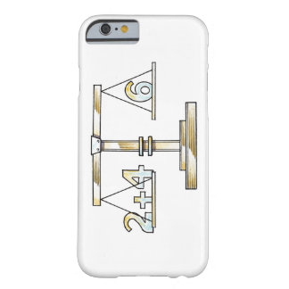 Illustration of adding numbers on scales barely there iPhone 6 case