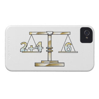 Illustration of adding numbers on scales iPhone 4 Case-Mate cases