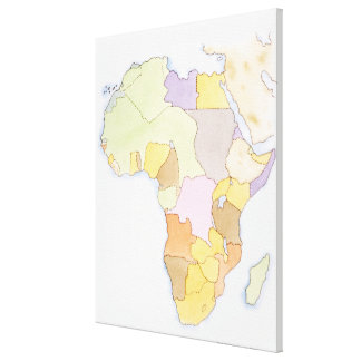 Illustration of African territories and states Canvas Print