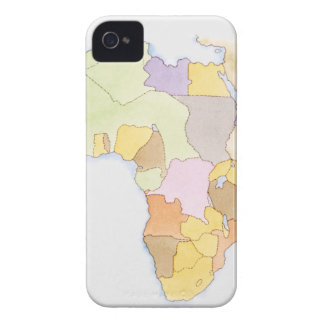 Illustration of African territories and states Case-Mate iPhone 4 Cases