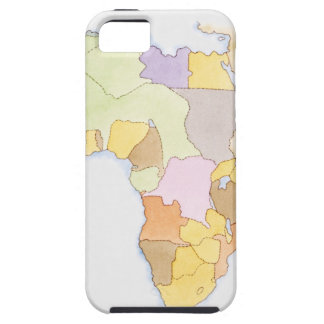 Illustration of African territories and states iPhone 5 Cases