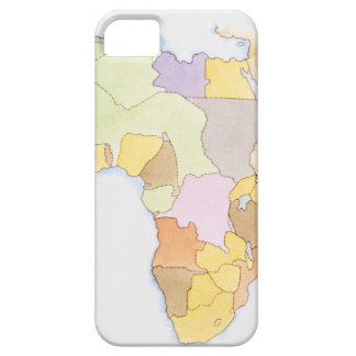 Illustration of African territories and states iPhone 5 Covers