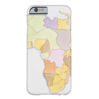 Illustration of African territories and states Barely There iPhone 6 Case