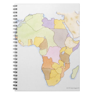 Illustration of African territories and states Notebooks